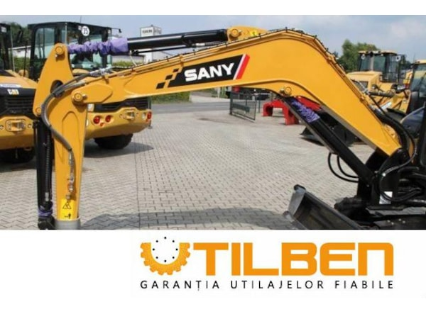 Miniexcavator Sany SY35U - UTILBEN dealer de utilaje in Romania
