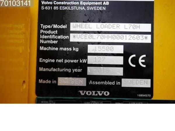Incarcatoare Frontale  Volvo L70H
